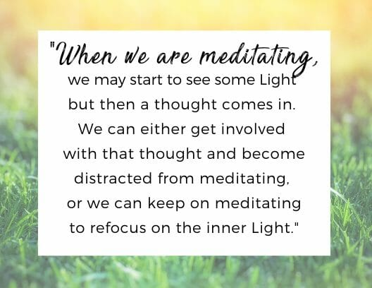quote for benefit to meditation