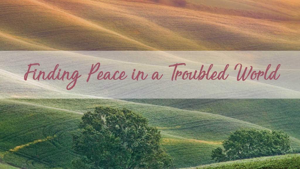 finding peace meditation scene