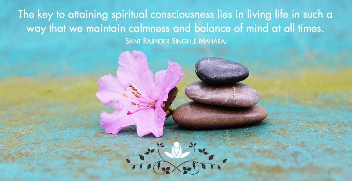 Maintain calmness and balance Sant Rajinder Singh
