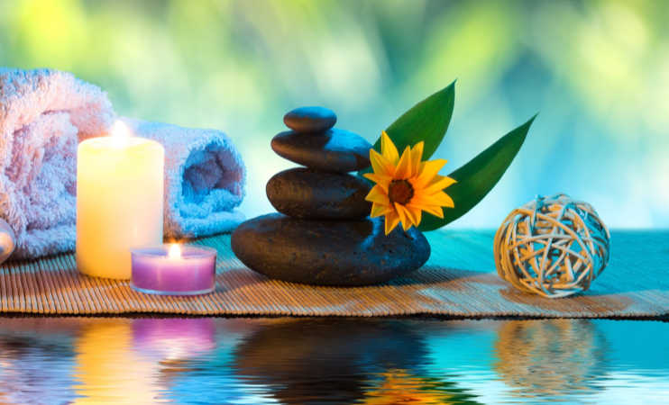 spa images for relaxing through meditation