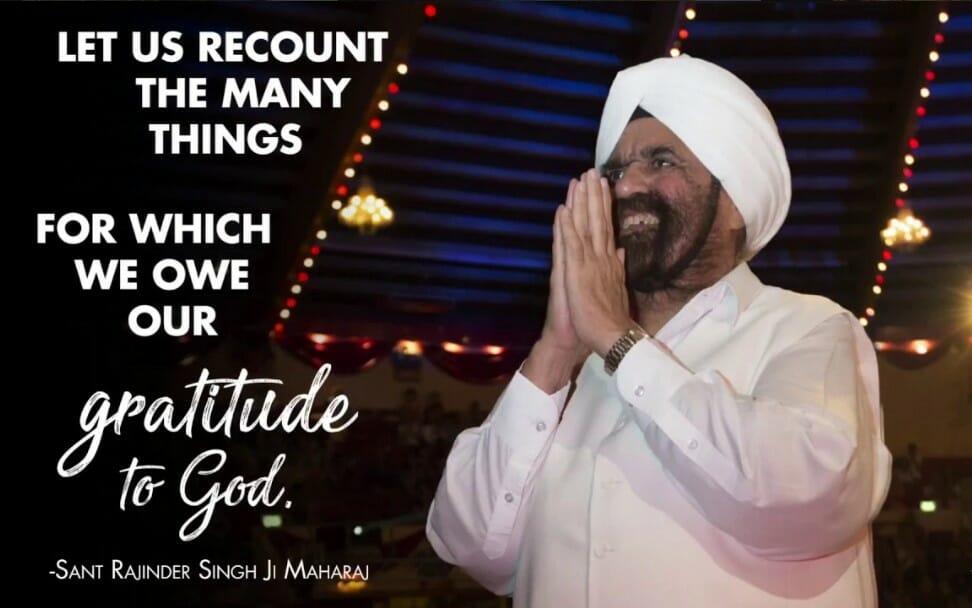 Gratitud hacia Dios