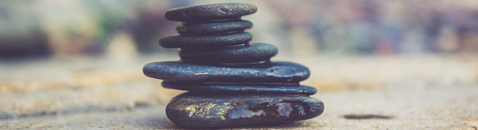 Different stones balanced ontop each other in harmony