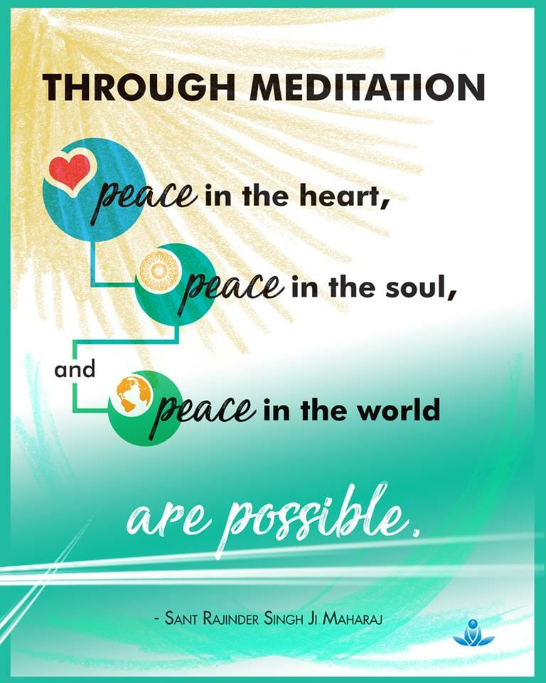 peace at all levels thorugh meditation