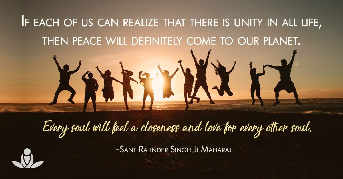 unity leads to peace Sant Rajinder Singh