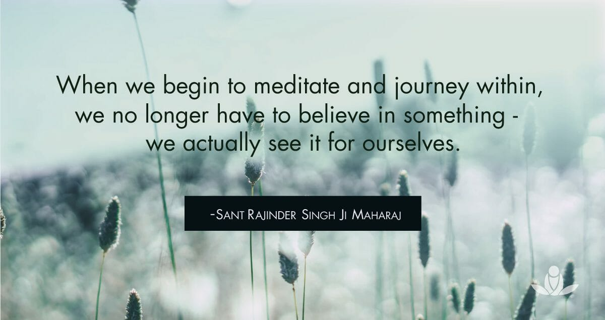 Meditation spiritual journey