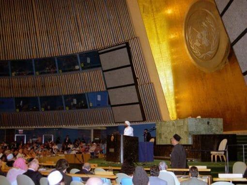 Sant Rajinder Singh Ji Maharaj addresses United Nations Millenium World Peace Summit