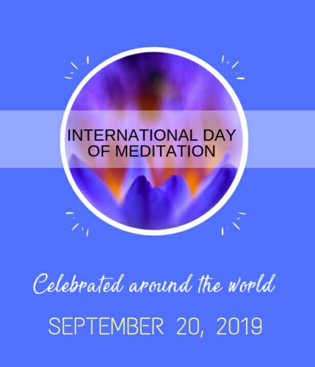 Poster International Day of Meditation Rajinder Singh