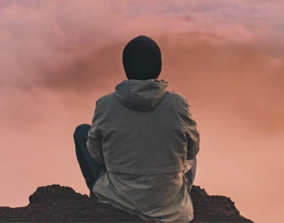 person meditating for international day of meditation