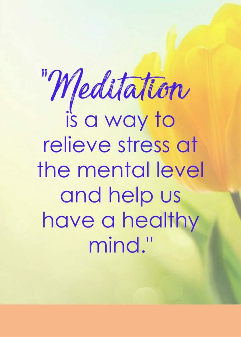 Healthy b=mind benefit of meditation quote