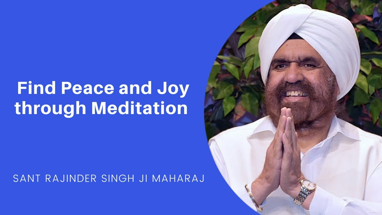 Finding Peace and Joy through Meditation