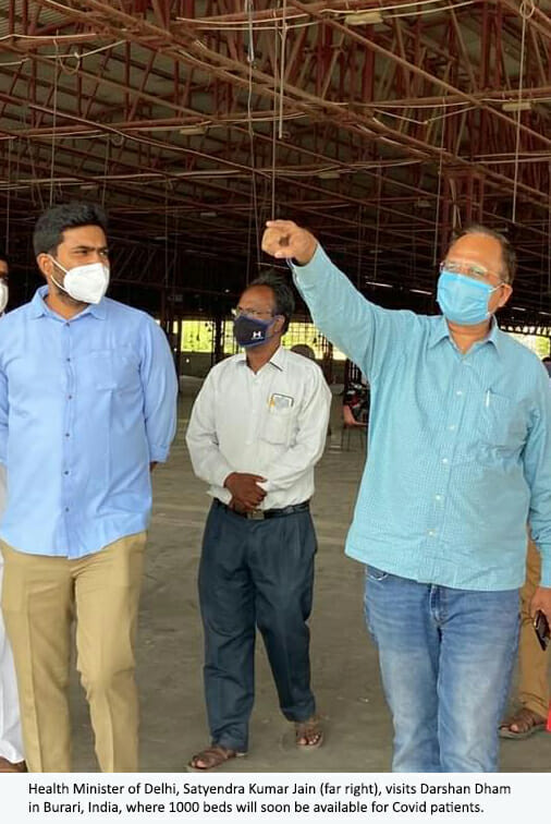 health minister at Darshan Dham (1)
